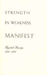 Cover image of Strength in Weakness Manifest