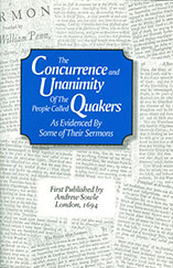 Cover image of The Concurrence and Unanimity of the People of God Called Quakers